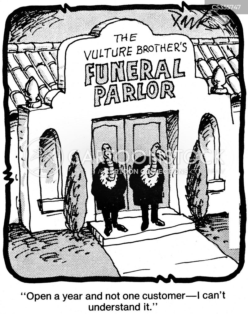 funeral parlours cartoon