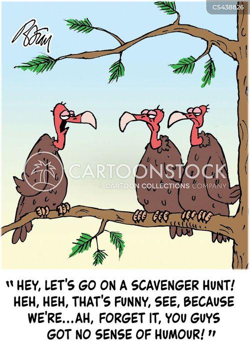 scavenger hunt cartoon