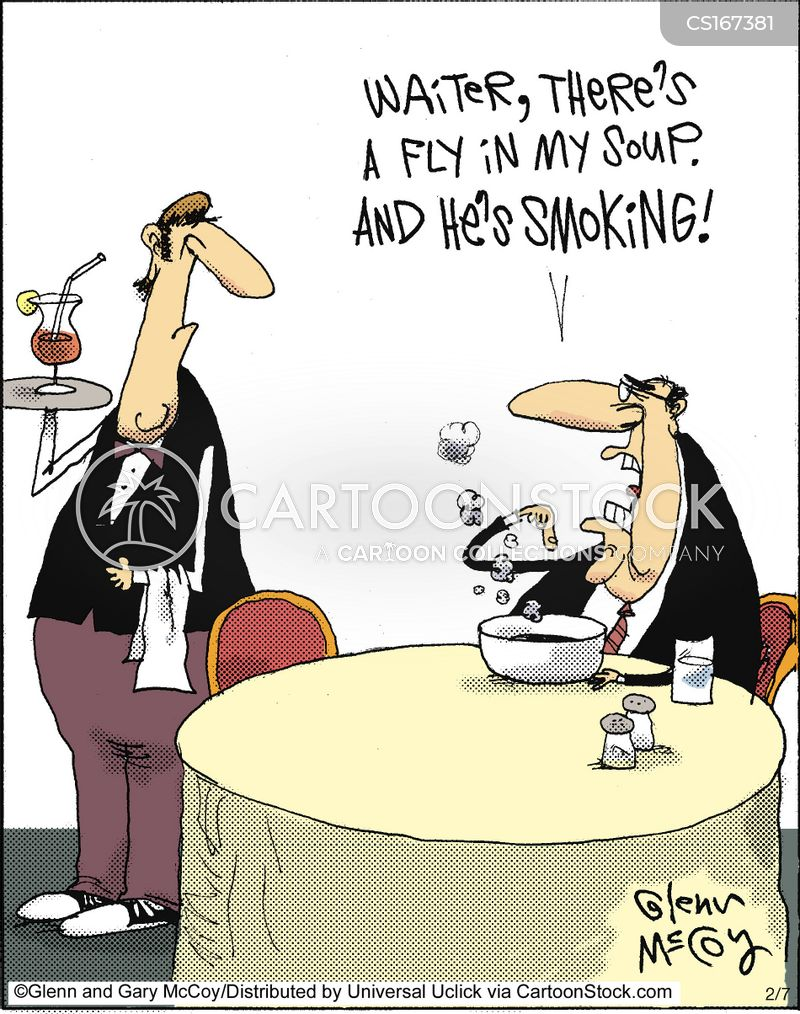waitressing cartoon