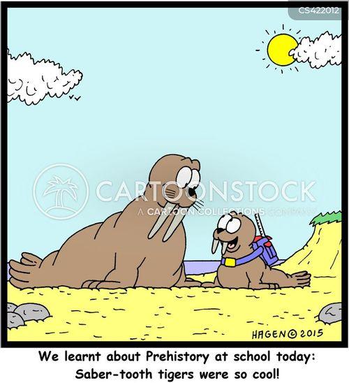 extinct animals cartoon