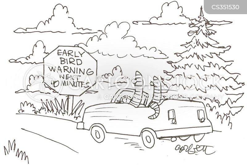 the early bird catches the worm cartoon