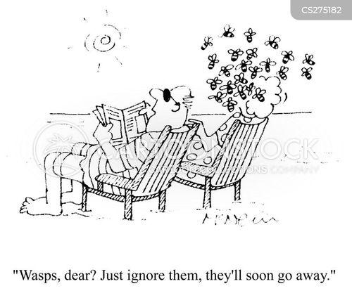 swarm of bees cartoon