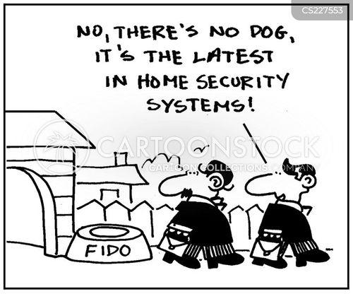 alarm systems cartoon