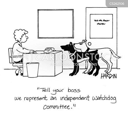 watchdog committee cartoon