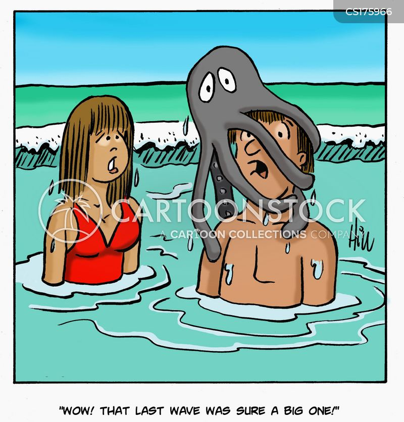 surfing cartoon