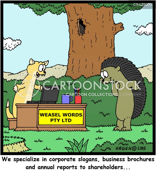 corporate slogans cartoon