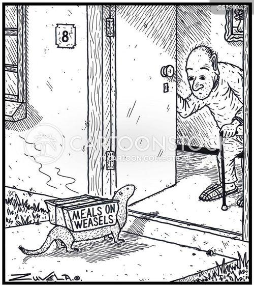 stoat cartoon