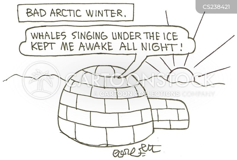 cold night cartoon