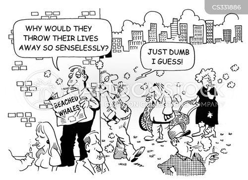 senseless cartoon