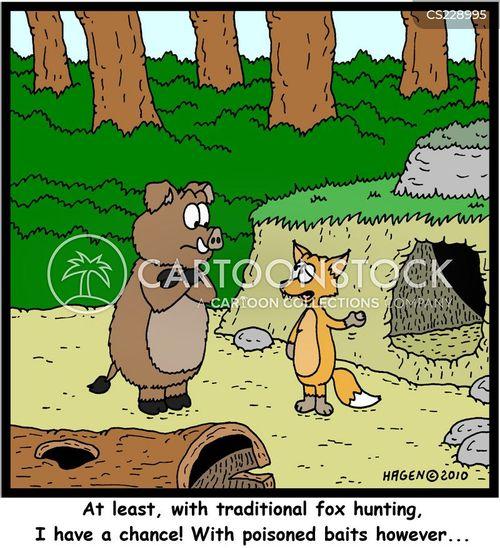 foox hunting cartoon