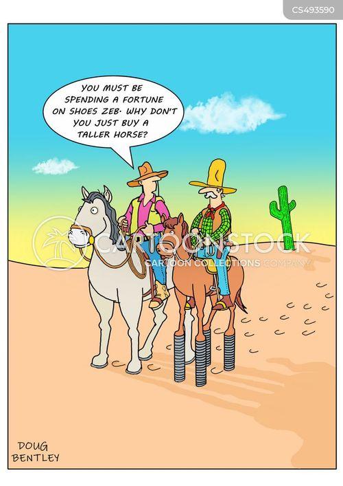 horse-shoe cartoon