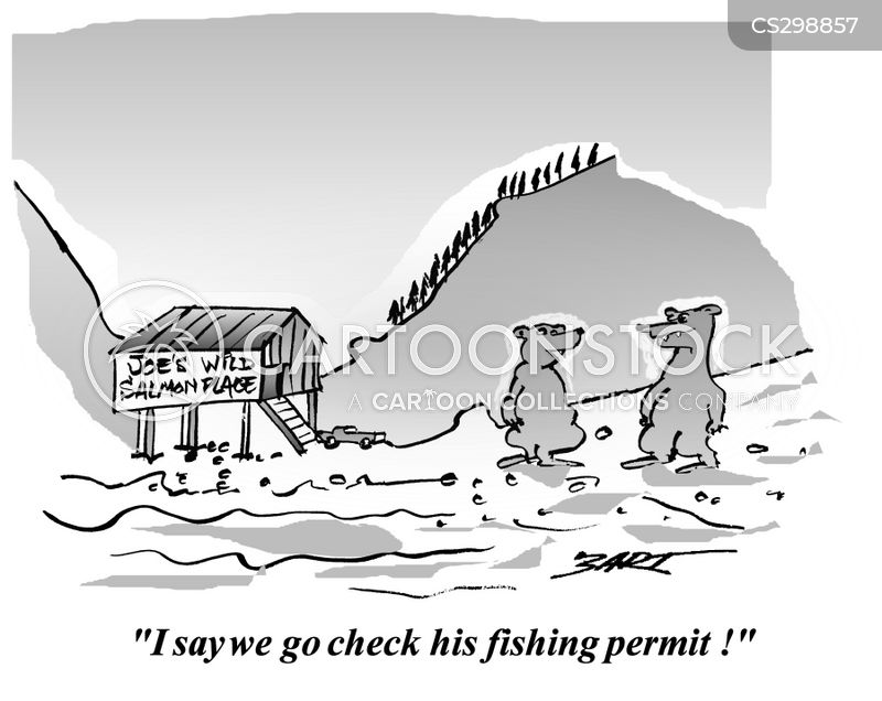 Funny salmon cartoon - photo#15
