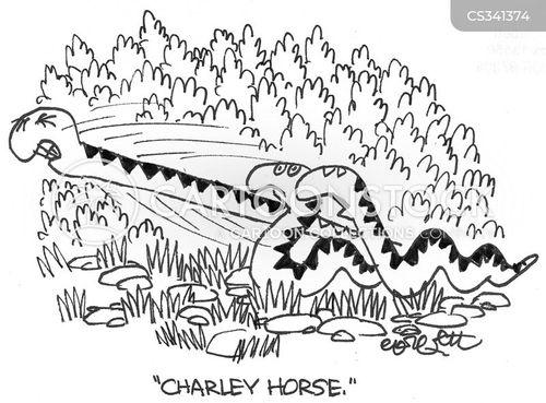 cramp cartoon