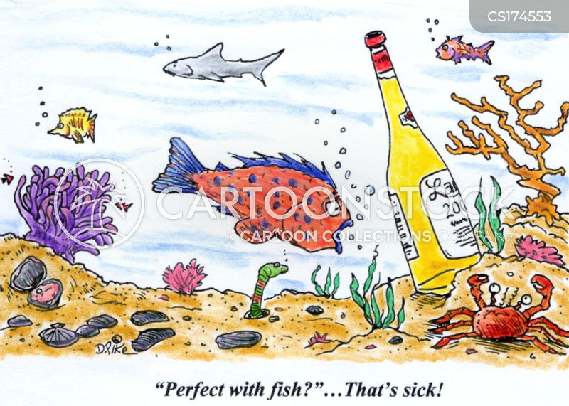 seafoods cartoon