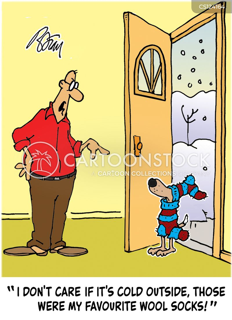 winter outfit cartoon