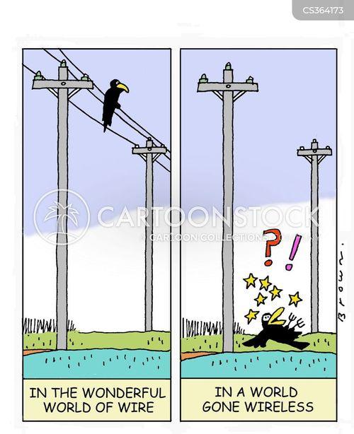 power lines cartoon