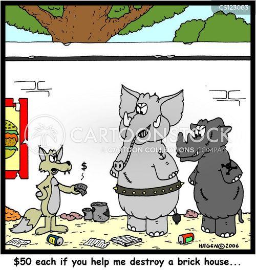 the three little pigs cartoon