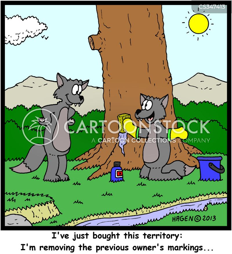 territory markers cartoon