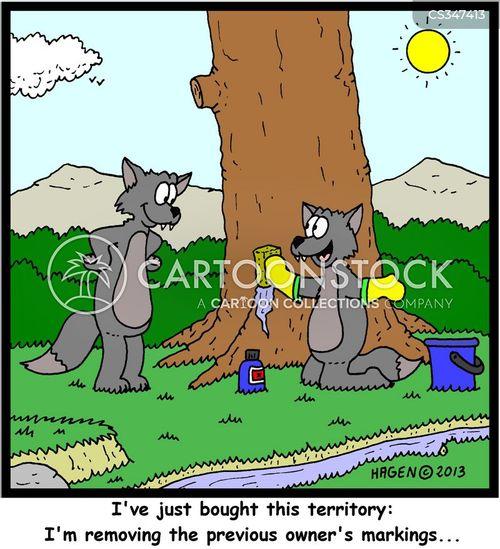 territory marker cartoon