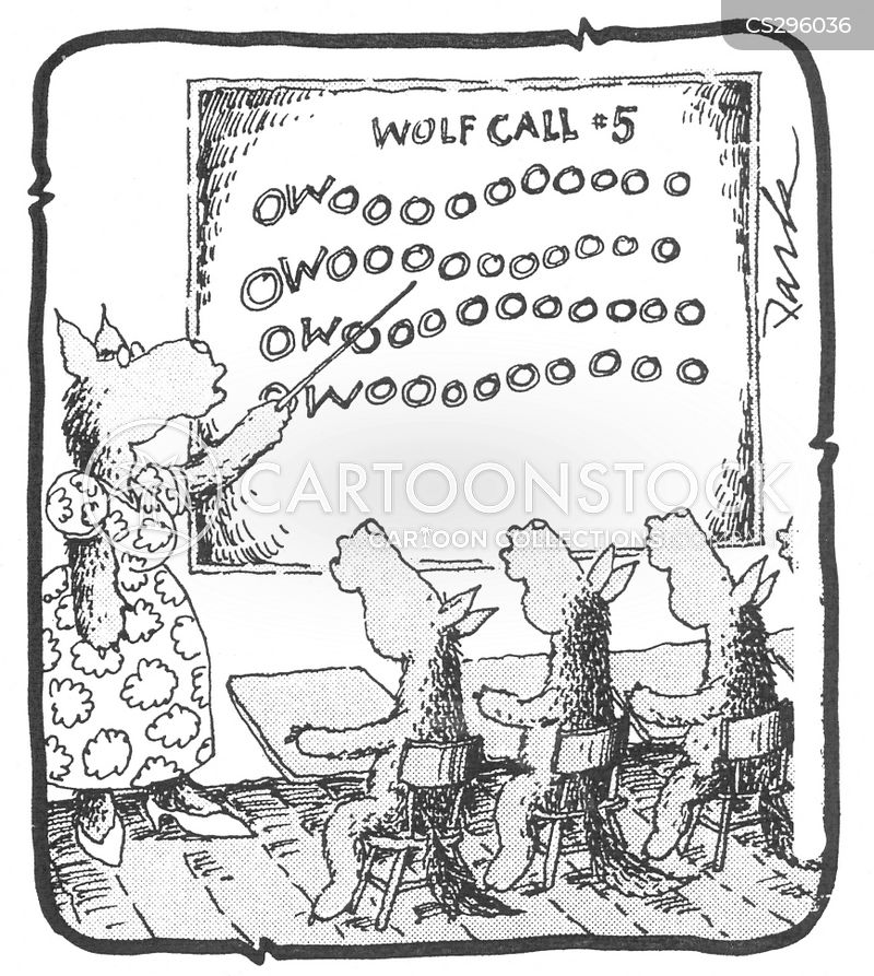 wolf calls cartoon