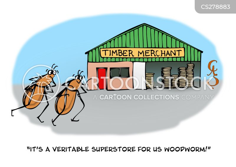 wood-worms cartoon