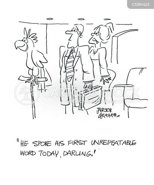 bad word cartoon