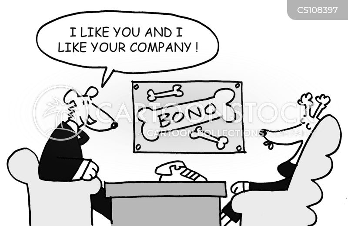 business account cartoon