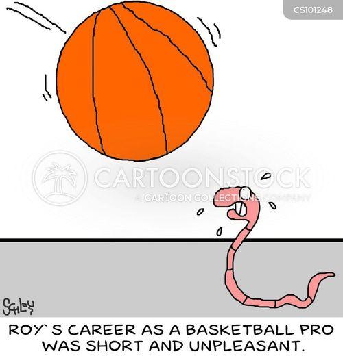 pro basketball cartoon