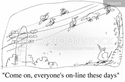 electricity lines cartoon