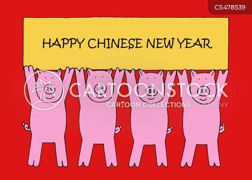 chinese new years cartoon