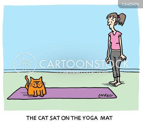 yoga sessions cartoon
