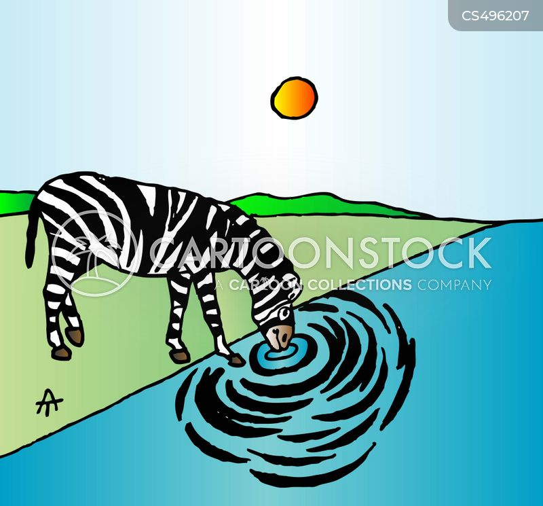 water holes cartoon