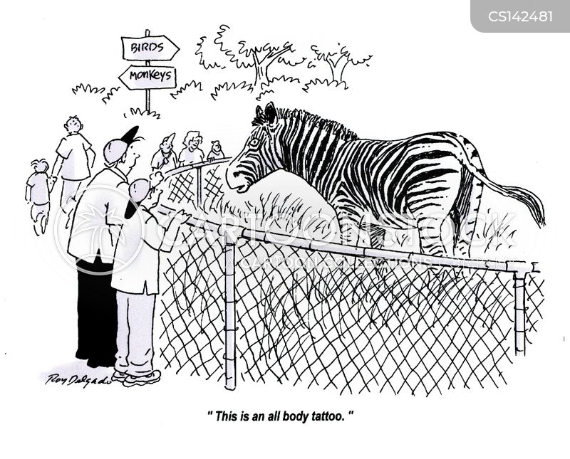 stripy cartoon