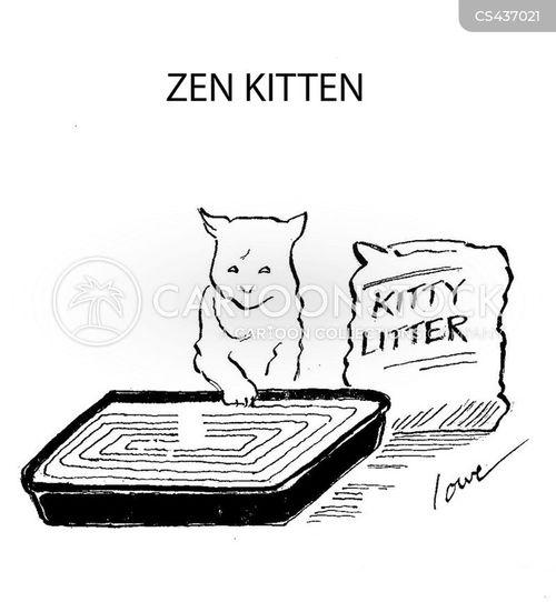 kitty litter cartoon