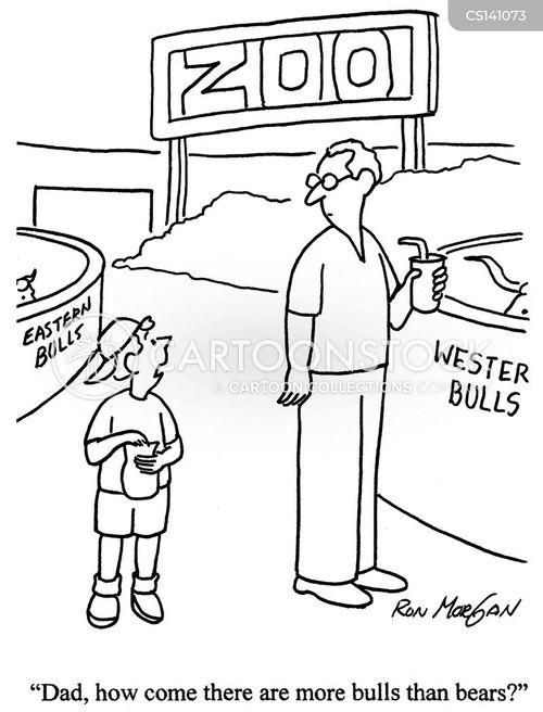 stock market crashes cartoon