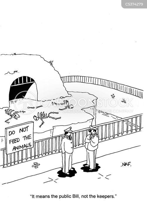 do not feed the animals cartoon