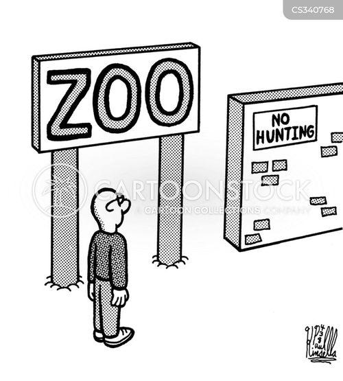 captive animals cartoon