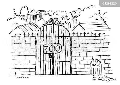 Zoo Habitat Cartoons And Comics