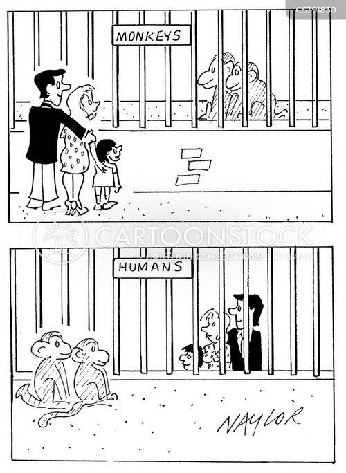 caged animals cartoon