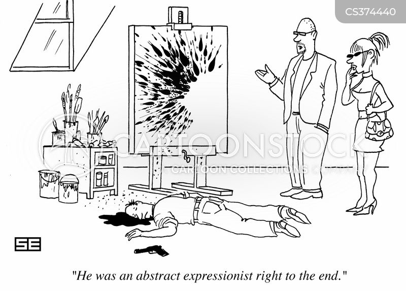 abstract expressionists cartoon