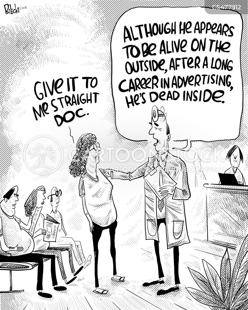advertising career cartoon