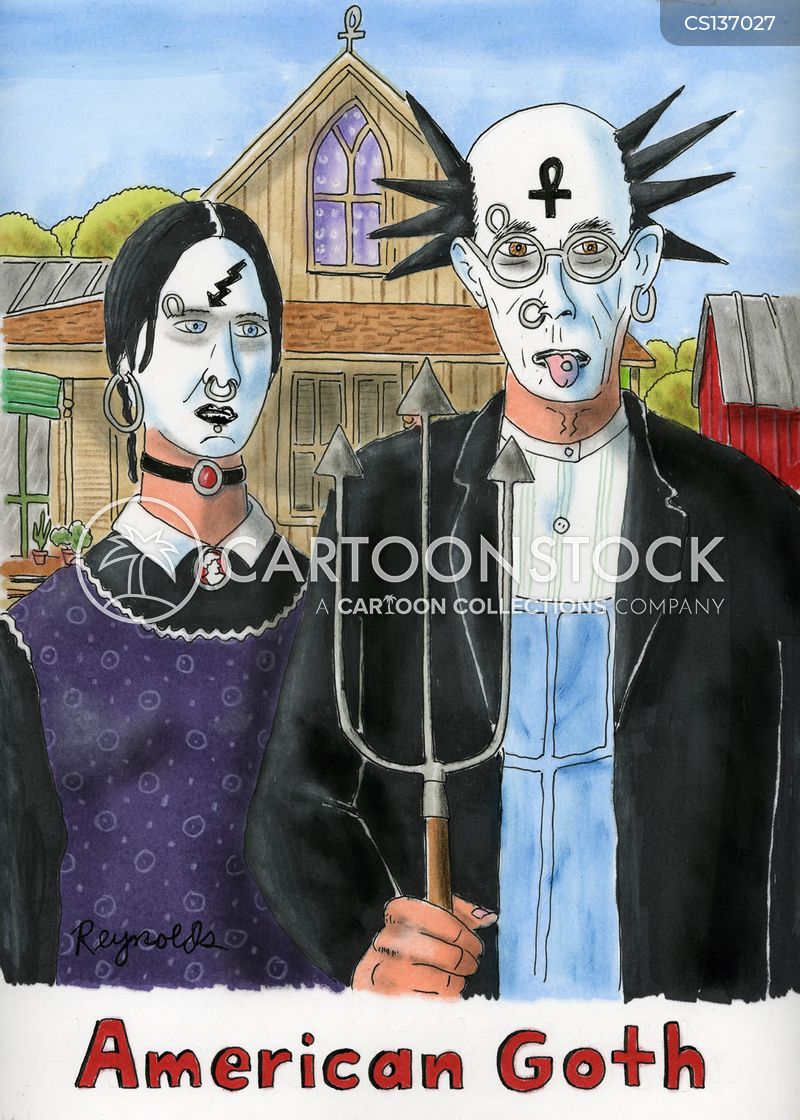goth cartoon
