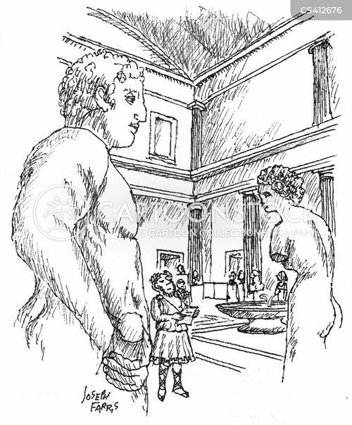 greek art cartoon