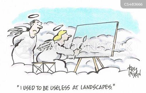 painting skill cartoon