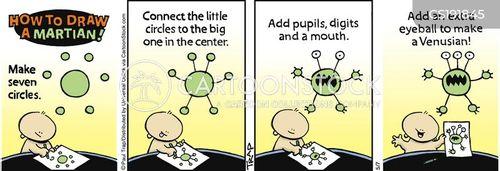 child artists cartoon