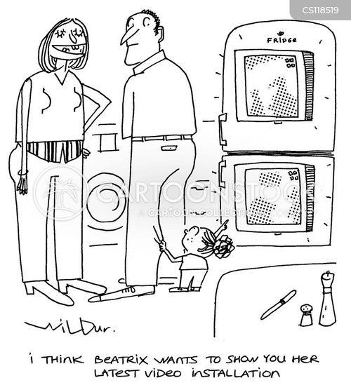 installations cartoon