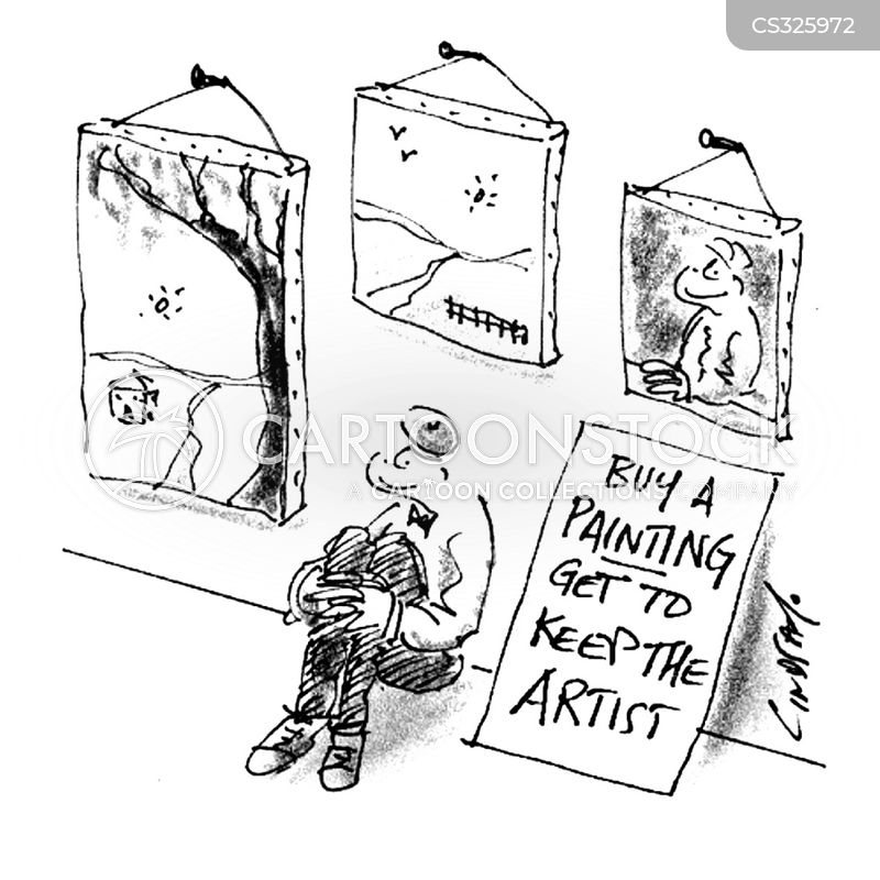 art shoppers cartoon