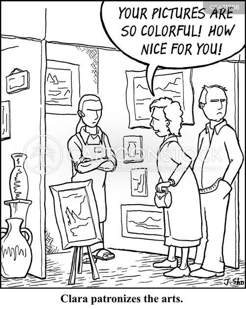 patronisation cartoon