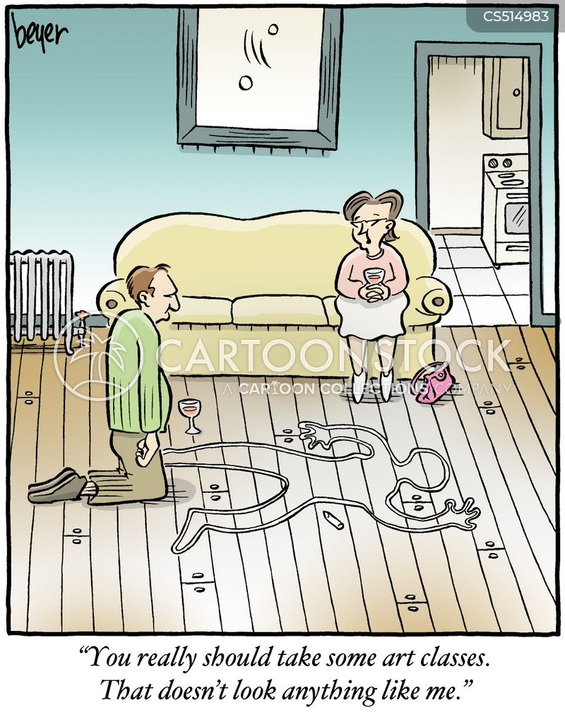chalk outlines cartoon