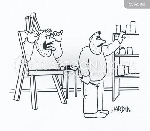easels cartoon